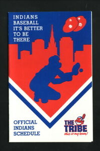Cleveland Indians--1988 Pocket Schedule--Ohio Lottery