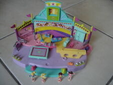 Jouet Polly Pocket BLUEBIRD Gym Gymnastique + 4 figurines