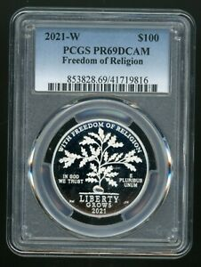 2021-W $100 Platinum Eagle Freedom of Religion PR69DCAM PCGS Limited Mintage