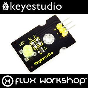 3pcs Keyestudio 5mm Yellow LED Module KS0234 Helmet Arduino Flux Workshop
