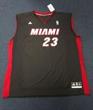 Michael Jordan Customize Reebok 2XL Black & Red Miami Heat Silky Jersey w/ Tags