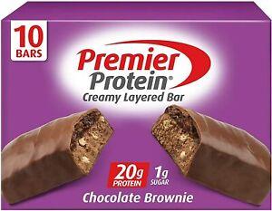 Premier Protein 20g Protein bar, Chocolate Brownie, 10 Count