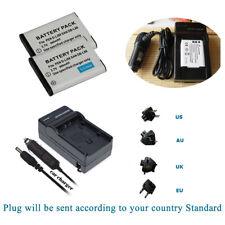 2x Battery D-Li88 DLi88 +Charger Kits for Pentax Optio H90, P70, P80, W90, WS80