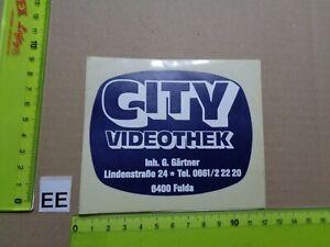 Alter Aufkleber Bühne Film Kino VideoThek CITY Stadt Fulda (B)