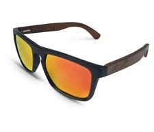 TWO-X Sonnenbrille Wood schwarz orange Wayfarer Look Holz Bamboo verspiegelt