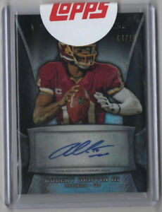 2013 Sterling ROBERT GRIFFIN RG3 04/15 auto on card RC Prizm Refractor Heisman