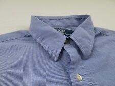 Polo Ralph Lauren Blue Striped Dress Shirt Sz 16 1/2 34 35 L Long Sleeve Andrew