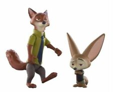 DISNEY TOMY Zootopia Movie Basic Toy Figure Set Nick Wilde and Finnick 2016