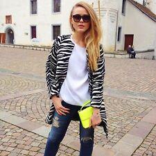 Zara Coat Zebra Size M 38 Black White Blogger Sold Out Stripe Studio
