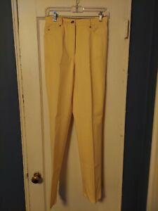 St. John Sport French Cream Cotton Denim Pants Slacks Size 4