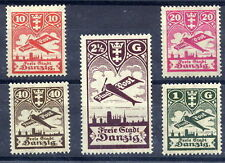 DANZIG 1924 Airmail definitive set MNH / **