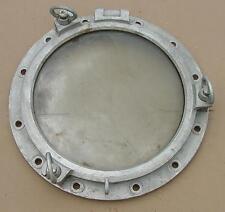 "Authentic Aluminum Porthole 22"" Diameter 3 ""Dog"""