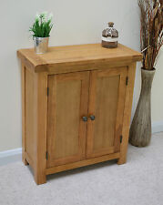 Beaufort Oak Two Door Linen Cupboard / Small Sideboard / Cabinet / Hall cupboard