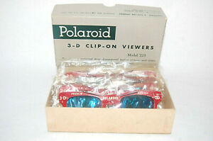 NEW NOS  6 - 3D Polaroid Camera #723 3 D Stereo Slide Clip On Viewer Glasses