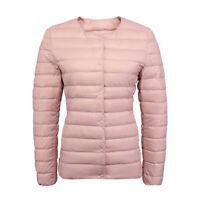 Women Packable Ultralight short 90% Down crew neck Jacket Puffer Parka Coat