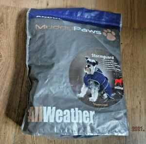 Ancol 980155 Stormguard, Fleece Lined, Dog Coat, Size M - Navy Blue