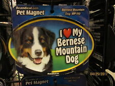 I Love My Bernese Mountain Dog 6 inch oval magnet for car or anything metal New