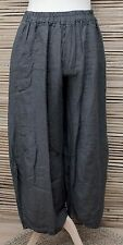 LAGENLOOK OVERSIZED LINEN BALLOON HAREM TROUSERS/PANTS***CHARCOAL*** XL-XXL