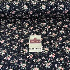 """blumen vintage shabby chic rosen 100% baumwolle popeline stoff craft 58"""" m684"""