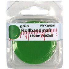 1 Rollbandmaß Schneidermaßband Schneider-Maß, Maßband grün 150 cm /60 Zoll, 0091
