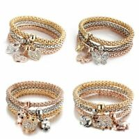 Women Fashion Jewelry Rhinestone Crystal Bangle Cuff Bracelet Gift Party Wedding
