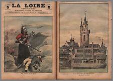LA  LOIRE REPUBLICAINE  N° 13 01/04/1900 RIPP EXPO 1900 UN COIN DU VIEUX PARIS