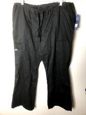 Cherokee Women's Workwear Core Stretch Drawstring Cargo Scrubs Pant, Black, L