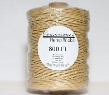 Natural Organic Hemp Wick 800 FT // BEST DEAL// Next Day Shipping Hemp Line Wax
