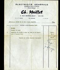 "NANTES (44) ELECTRICITE GENERALE / ELECTRO-MENAGER ""Ch. MAILLET"" en 1962"