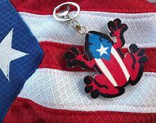 3X3 PUERTO RICO FLAG BORICUA COQUI FROG PVC KEY RING KEY CHAIN TRUCKS SOUVENIRS