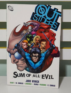 OUTSIDERS - SUM OF ALL EVIL! DC UNIVERSE GRAPHIC NOVEL! COMIC BOOK!