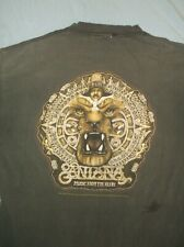 Asis 90's Santana Aztlan promo t-shirt distressed faded black Xl Rock band tour