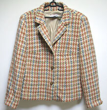 LOVELY LAURA LEBEK BUSINESS LADIES JACKET SIZE EUROPEAN 40 BEIGE CREAM RED BLUE