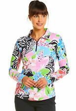 IBKUL Womens Amelia Print Long Sleeve Polo 41644- New 2020