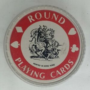Vintage Circular Union Jack Playing Cards British Unique Made in Hong Kong