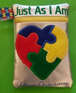 AUTISM POUCH, PURSE, PENCIL CASE, IDEAL FOR SENSORY TOYS, OR FLASH CARDS