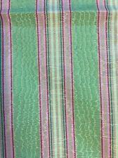REMNANT SoftFurnishing Craft 93x143cm Pink & Green Stripes