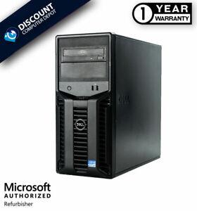 Dell PowerEdge T110 Intel Xeon Workstation Server 8GB RAM 500GB HD Windows 10 PC