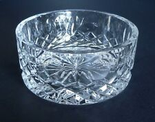 "Rogaska Wine bottle Coaster Glass Crystal Rest Dish. Approx. 4 1/2"" Diam."