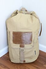 RARE Starbucks Canvas Duffle Bag Large Back Pack Day Sling Duffel Vintage Cotton