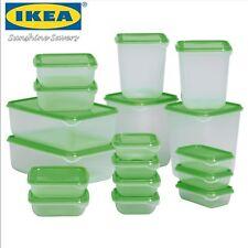 Ikea Pruta Lot Plastique Alimentaire Conteneurs 17 Pièces Vert Rangement Boîtes