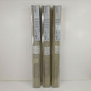 "Ikea Anno Sanela 24x118"" Curtain Glider Panels 3 Tan 701.190.72 Woven 17189 NEW"