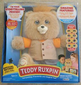 TEDDY RUXPIN (2017) NEW Animated Talking Storytelling Bear Bluetooth LED Eyes