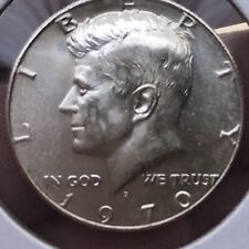 1970-D Kennedy 40% Silver Half Dollar Beautiful Tougher Coin With Silver Flash!