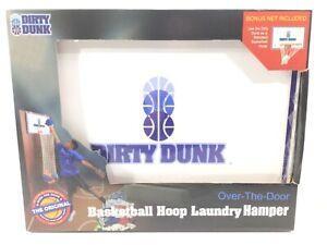 Dirty Dunk Over the Door Basketball Hoop Laundry Hamper w/ Bonus Extra Net New