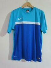 NIKE DRI FIT Blue Top T-Shirt Size L