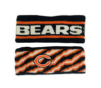2 Vtg c.1980's Chicago Bears Football Ski Headbands / Ditka McMahon Payton era