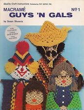 Macrame Guys 'N Gals No. 1 PD-1081 People Craft Instruction Pattern Book