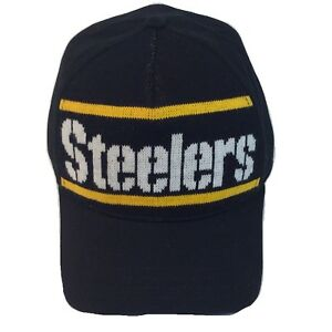 Pittsburgh Steelers NFL Reebok Cliff Engle Sweater OSFA Strapback Cap Hat