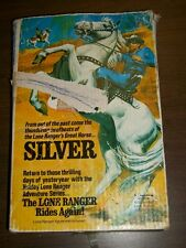 Vintage Hubley SILVER Rearing-Action Stallion Lone Ranger Figure